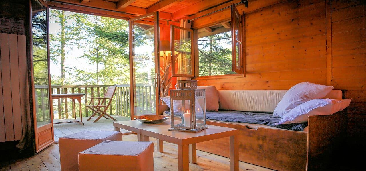Cabanes perchées dans les arbres Séquoia - Domaine Oz'Arbres